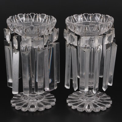 Crystal Prism Mantel Lustres