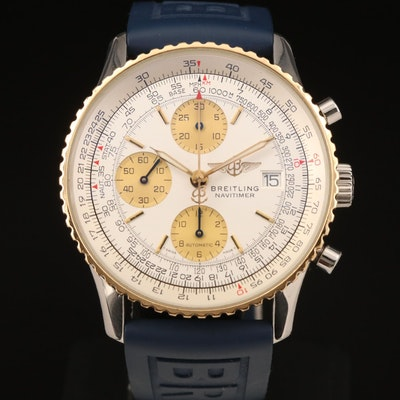 Breitling Navitimer Automatic Stainless Steel and 18K Gold Wristwatch