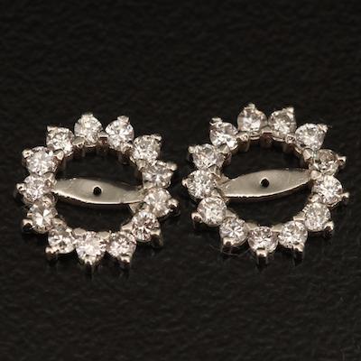 14K 0.48 CTW Diamond Earring Jackets