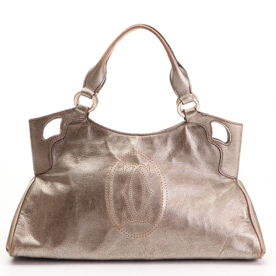 Cartier Marcello de Cartier Metallic Leather Handbag