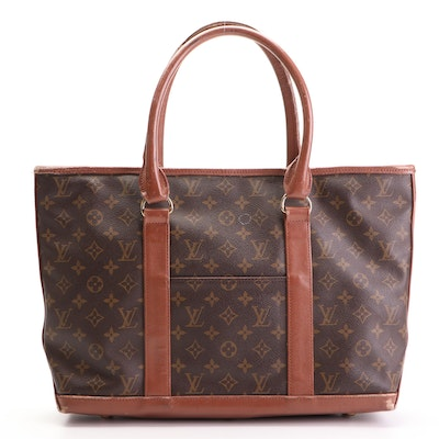 Louis Vuitton Sac Weekend Tote in Monogram Canvas and Leather