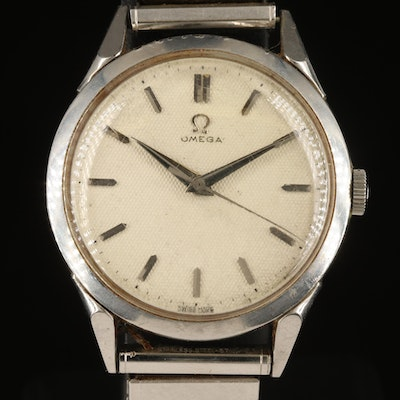 1952 Omega Stainless Steel Wristwatch