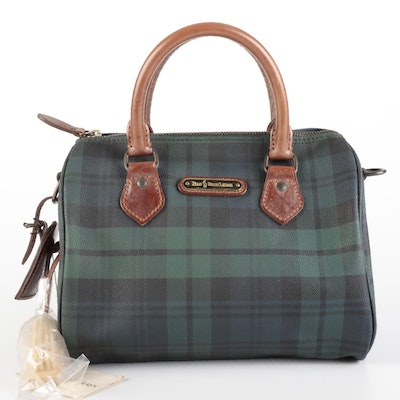 Polo Ralph Lauren Small Handbag in Blackwatch Canvas and Leather