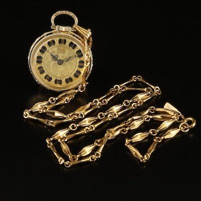 Lucerne Stem Wind Timepiece Pendant