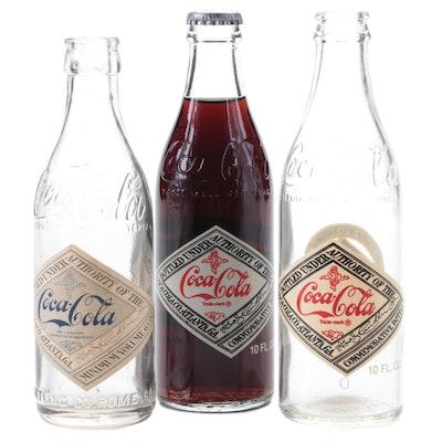 Coca-Cola 75th Anniversary Commemorative Bottles and Rome GA Bottle