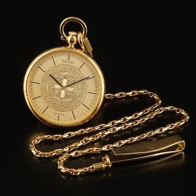 Seiko Sigillum Collegii Georgetonensis Quartz Pocket Watch