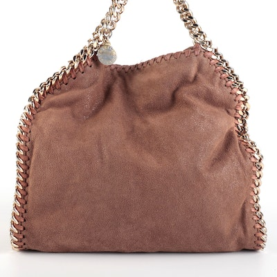Stella McCartney Mini Falabella Shoulder Bag in Faux Suede with Whipstitching