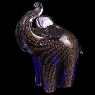 V. Nason & Co. Murano Art Glass Elephant Figurine