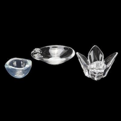 Steuben and Orrefors Molded Crystal Bowls