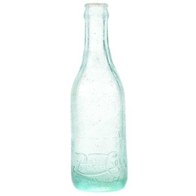 Pepsi-Cola Savannah GA Embossed Straight Side Glass Bottle