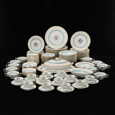 """Minton """"Ardmore"""" Porcelain Dinnerware, Mid to Late 20th Century"""