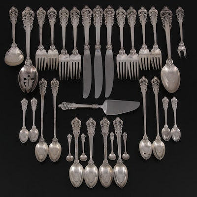 """Wallace """"Grande Baroque"""" Sterling Silver Flatware and Serving Utensils"""