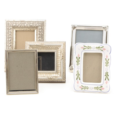 Wood, Metal and Ceramic Tabletop Easel Picture Frames