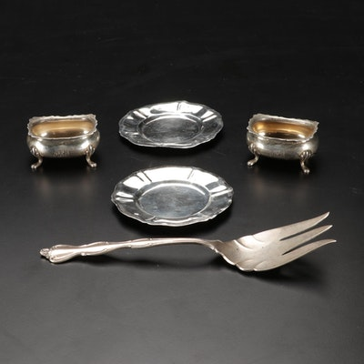 Sterling Silver Footed Finger Bowls and Other Tableware, 20th Century