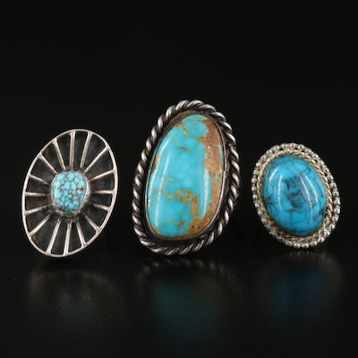 Turquoise Rings Including Sterling Silver