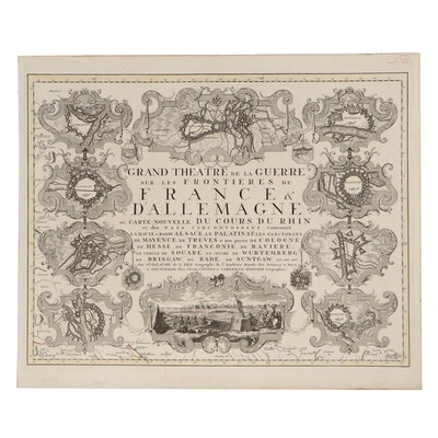Guillaume De L'isle Engravings of Cover Page, 1742