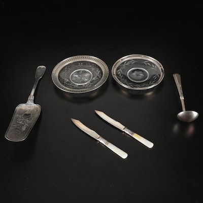 Sterling, 800 Silver, and Mother of Pearl Flatware and More, 19th/Early 20th C.