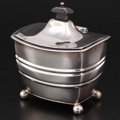 Henry Stratford Sterling Silver Tea Caddy, Late 19th Century