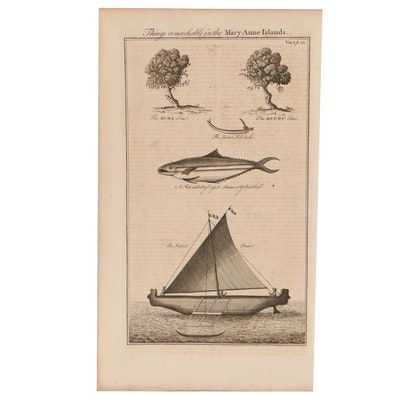 """Emanuel Bowen Engraving From """"Complete Collection of Voyages and Travels"""""""