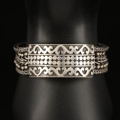 Sterling Bali Style Bracelet