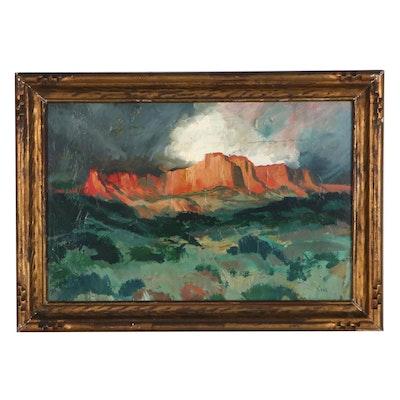 Willard Ayer Nash Landscape Oil Painting, Mid-20th Century