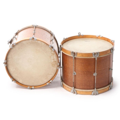 Slingerland Mahogany Snare, Marching Drum, 1950s