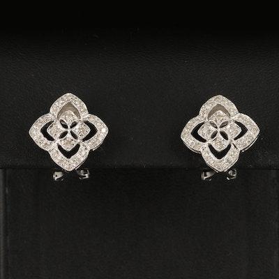 14K 0.31 CTW Diamond Quatrefoil Earrings