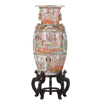 Chinese Famille Rose Porcelain Floor Vase, Late 20th Century