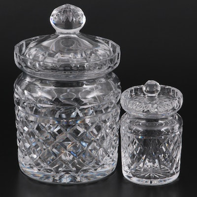 """Waterford """"Glandore"""" and Other Crystal Biscuit and Honey Jars"""