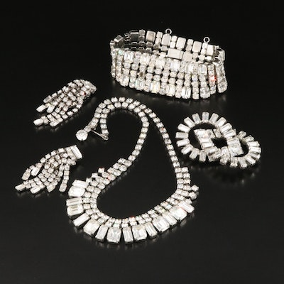 Vintage Weiss Rhinestone and Glass Grouping