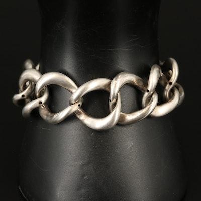 Sterling Curb Link Bracelet