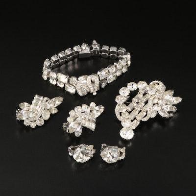 Vintage Eisenberg Rhinestone Jewelry