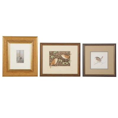 Wren Prints and Watercolor Painting Featuring Lucius DuBose and Susan Barr