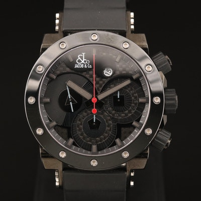 Jacob & Co. Epic 2 Tourneau Limited Edition Stainless Steel and PVD Wristwatch