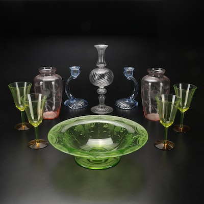 Cambridge and Other Victorian and Depression Glass Tableware, 1880s-1930s