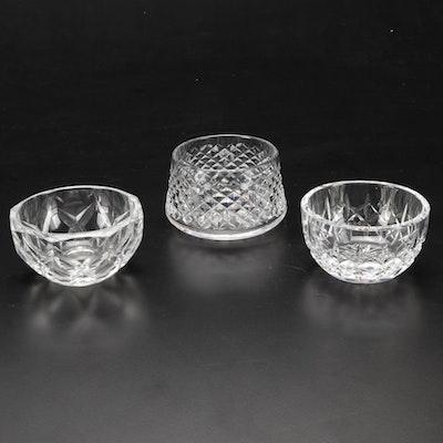 Waterford and Val St. Lambert Cut Crystal Bonbon Bowls