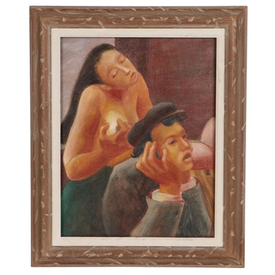 "Yoko Nogami Oil Painting ""Desire #1"""