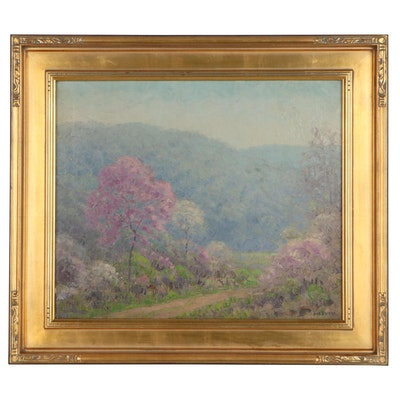 Dale Bessire Impressionist Style Landscape Oil Painting, Mid-20th Century