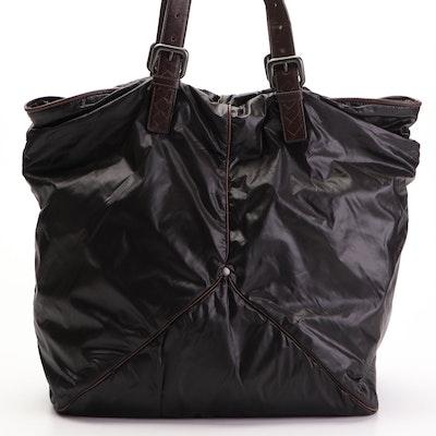 Bottega Veneta Spinnaker Nylon and Leather Tote Bag