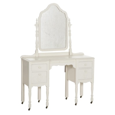 White Painted Vanity Desk