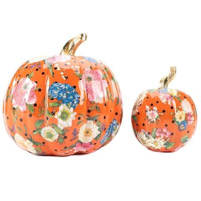 "MacKenzie-Childs ""Flower Market"" Painted Pumpkins"