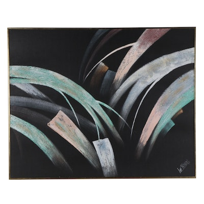 Vanguard Studios Abstract Oil Painting, Late 20th Century