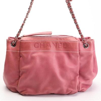 Chanel Pink Leather Shoulder Bag