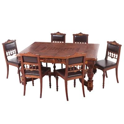 Fine English Renaissance-Revival Dining Set, Late 19th Century