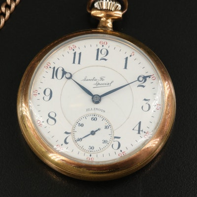 1919 Illinois Santa Fe Special Gold Filled Pocket Watch