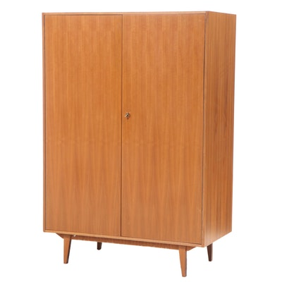 Danish Modern Teak Armoire Cabinet