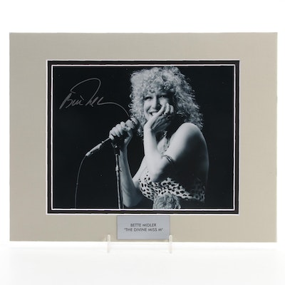 """Bette Midler Signed """"The Divine Miss M"""" Singer and Actress Photo Print, COA"""