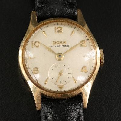 14K Doxa Swiss Stem Wind Wristwatch