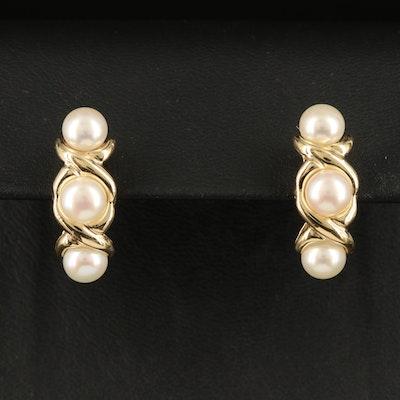 14K Pearl Drop Earrings