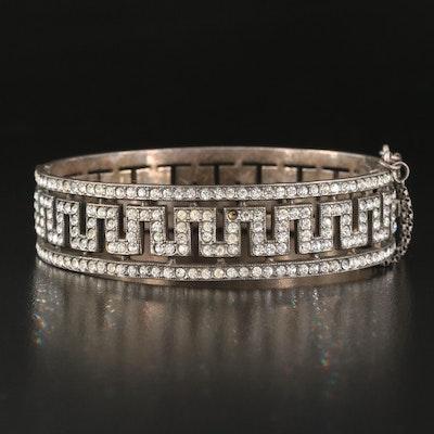 Vintage Sterling Glass Openwork Bracelet